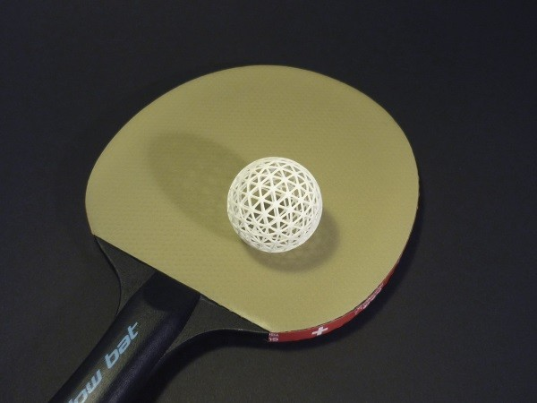 This 3D Printed Table Tennis Ball Will Never Break