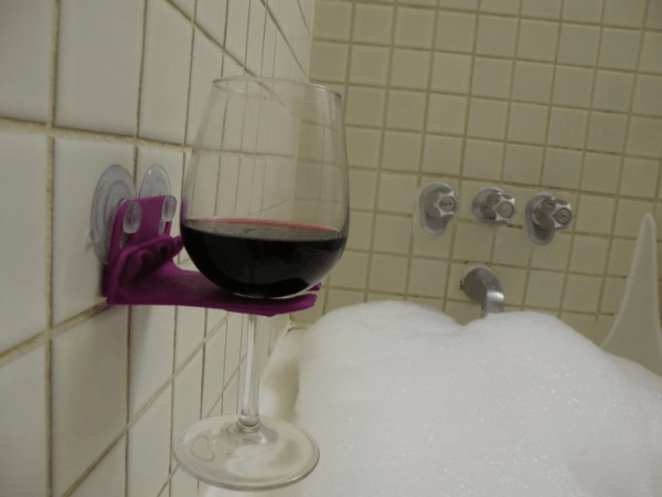 3D Printing's Solution to Your Bathroom Problems: Wine Glass Holders